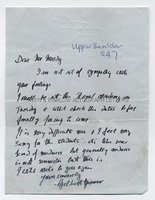 GILBERT SPENCER (1892-1979) Autograph Letter Signed
