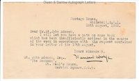 HUMBERT WOLFE (1885-1940) Typed Letter Signed