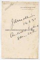 JAMES JIM MOLLISON (1905-1959) Autograph Signature