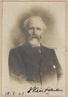 JAMES KEIR HARDIE (1856-1915) Signed Photograph