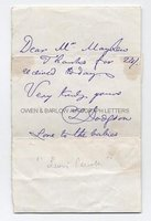 LEWIS CARROLL (1832-1898) Autograph Letter Signed