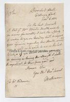 LORD MELBOURNE (1779-1848) Autograph Letter Signed