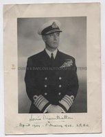 LOUIS MOUNTBATTEN (1900-1979) Photograph Signed