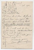 LOUIS RAEMAEKERS (1869-1956) Autograph Letter Signed