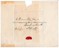 MARTIN ARCHER-SHEE (1769-1850) & WILLIAM ETTY (1787-1849) Autograph Letter Cover & Drawing
