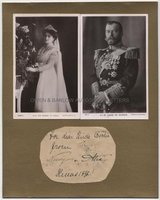 TSAR NICHOLAS II (1868-1918) and ALEXANDRA Signed Gift Inscription to Edward Prince of Wales