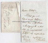 SIR ROBERT PEEL (1788-1850) Autograph Letter Signed