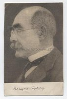 RUDYARD KIPLING (1865-1936) Autograph signature below newsprint portrait