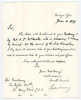 LORD SALISBURY (1830-1903) Autograph Letter Signed