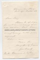 SIR GEORGE BACK (1796-1878) Autograph Letter Signed