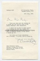GERALD KELLY (1879-1972) Typed Letter Signed