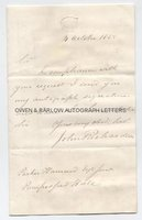 SIR JOHN RICHARDSON (1787-1865) Autograph Letter Signed