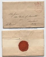 SPENCER PERCIVAL (1762-1812) Autograph Letter Cover Signed