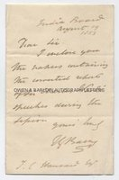 THOMAS BARING (1826-1904) Autograph Letter Signed
