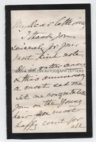 SIR THOMAS GLADSTONE (1804-1889) Autograph Letter Signed