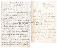 WILLIAM CHARLES ROSS (1794-1860) Autograph Letters Signed