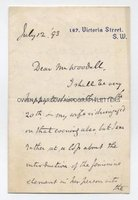 WILLIAM HOWARD RUSSELL (1820-1907) Autograph Letter Signed