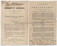 SIR WILLIAM JARDINE (1800-1874) Two Autograph Notes Signed