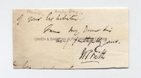 WILLIAM POWELL FRITH (1819-1909) Autograph Signature