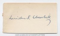 WINSTON S. CHURCHILL (1874-1965) Autograph Signature